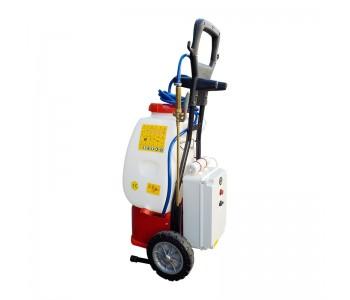 Sistema Nebulizzatore + Kit BIOZONO a Batteria su ruote per Sanificazione di Ambienti di Lavoro COVID-19