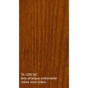 Tinta all'acqua uniformante per legno colore noce chiaro